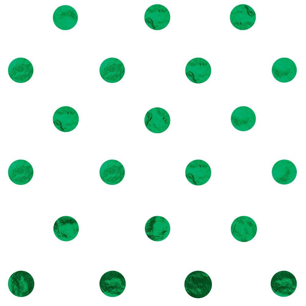 JAM Paper Design Gift Tissue, Green Polka Dots, 20 x 30, 200 Sheets