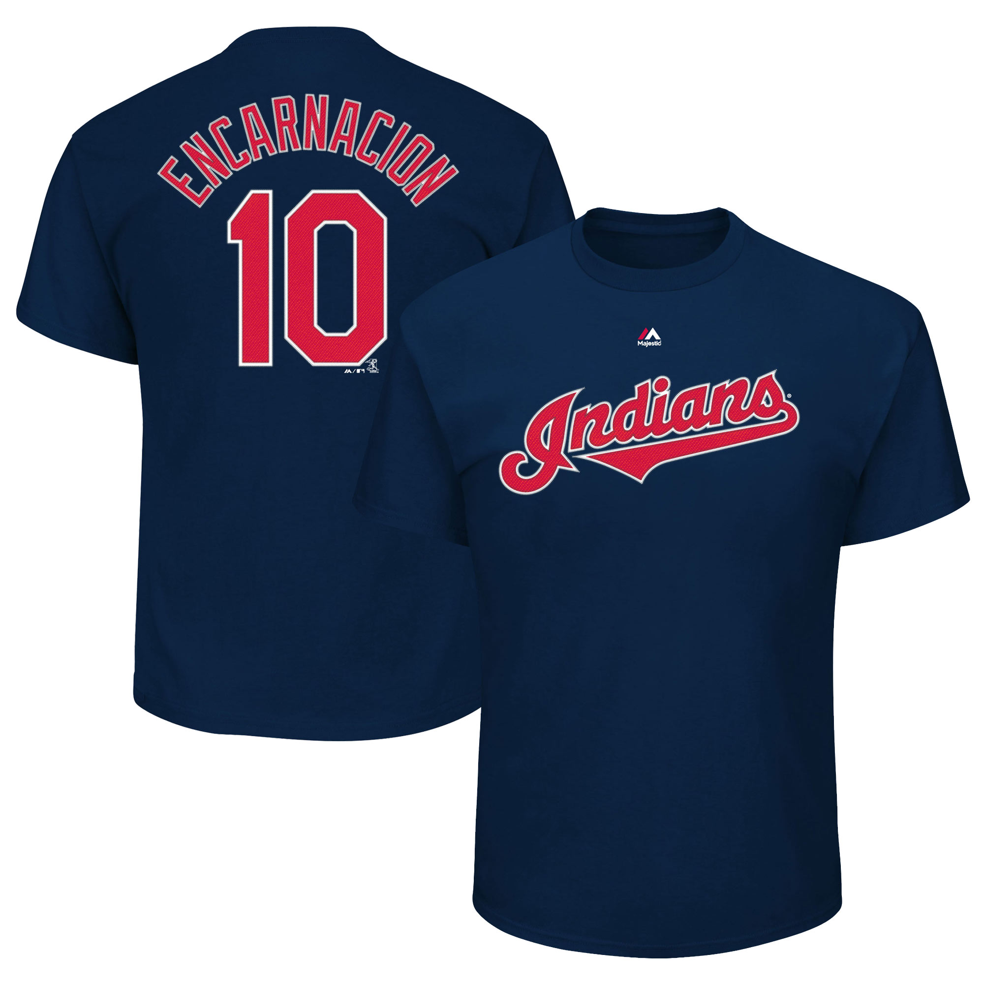 Edwin Encarnacion Cleveland Indians Majestic Youth Player Name & Number T-Shirt - Navy