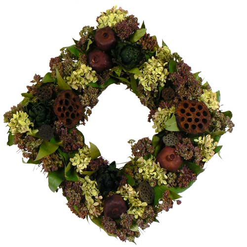 Urban Florals Harvest Delight Square Wreath