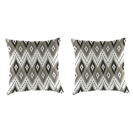 Mainstays Taupe Ikat Outdoor Toss Pillow Set Of 2 Walmart Com