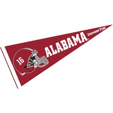 Alabama Crimson Tide 16 Football Helmet 12  X 30  Felt College Pennant