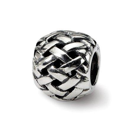 Sterling Basketweave (Sterling Silver Reflections Basketweave Bali Bead Charm )