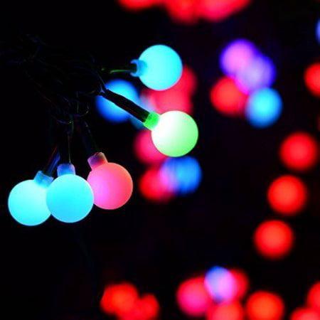 Qedertek Christmas String Lights 90 Led 656ft Rgb Ball Lights