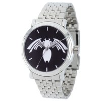 Marvel Spider-Man Venom Men's Silver Alloy Vintage Watch, Silver Stainless Steel Bracelet