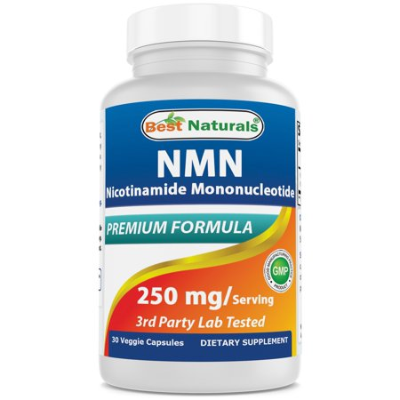 Best Naturals NMN Supplements Nicotinamide Mononucleotide 250mg per Serving, NAD Booster for Cellular Repair & Energy, 30 Veggie (Best Energy Supplement For Studying)