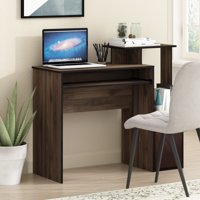 Furinno Econ Multipurpose Home Office Computer Writing Desk w/Bin, Columbia Walnut/Dark Brown