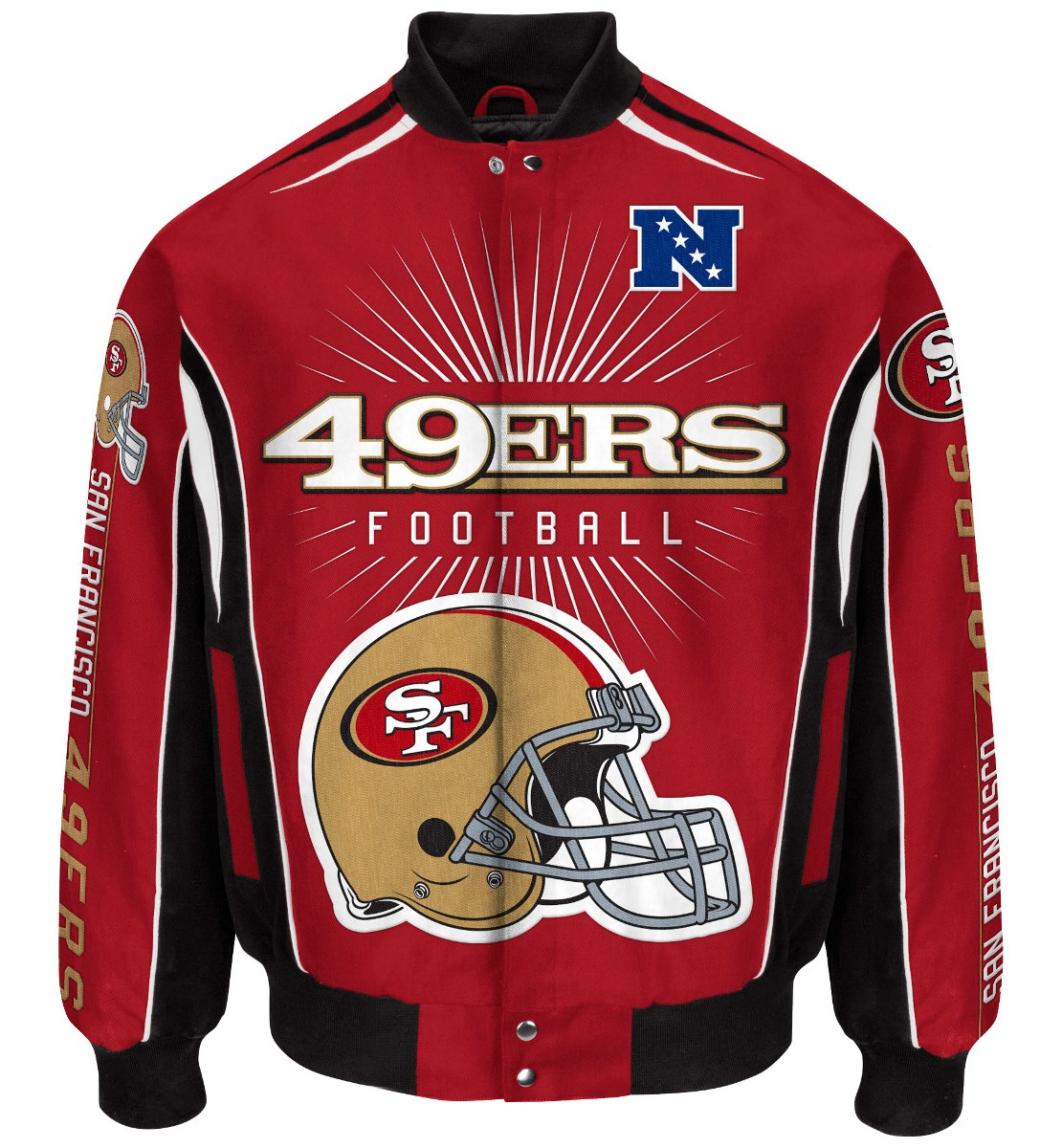 "San Francisco 49ers Men's NFL G-III ""Burst"" Premium Twill Jacket by G-III Sports"