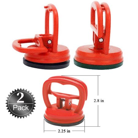 Suction Cup Dent Puller 2PACK Lifter for Glass/Tiles/Mirror/Granite Lifting, Gripper Sucker Plate, Double Handle Locking Car Body Paintless Dent Removal Tools
