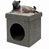 "Folding Chair Cat Cube Cat House Cat Condo, 14.4"" x 14.4"" x 15.4"""