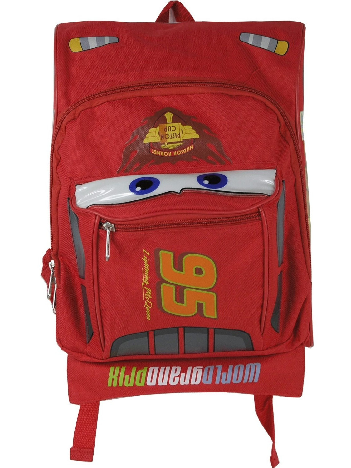 NEW PERSONALISED KIDS BOYS SCHOOL TRAVEL BLUE BACKPACK BAG FOR CARS MCQUEEN