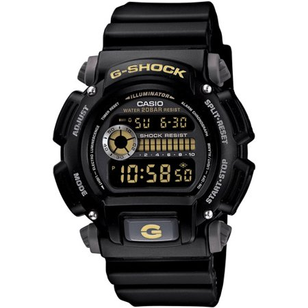 Men's G-Shock Watch With Backlight, Black Resin