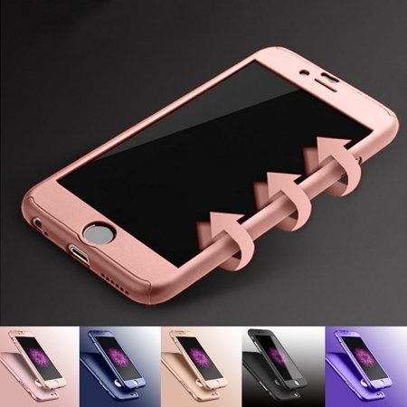 Apple iPhone 6 Plus / iPhone 6S Plus Cell Phone Cases, Njjex Full Body Coverage Protection Hard Slim With Tempered Glass Screen Protector Skin Case Cover For iPhone 6 Plus / 6S Plus ()