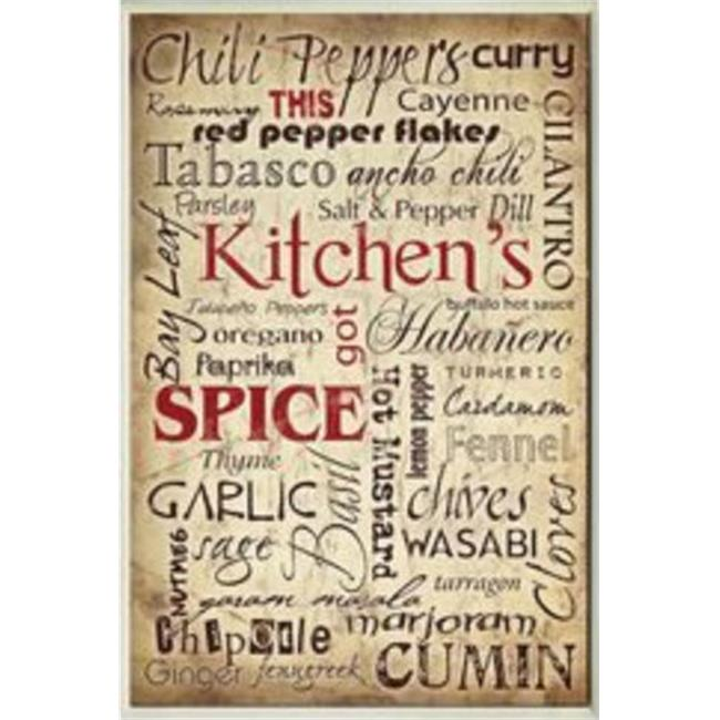 Stupell Industries KWP-944 Kitchen Spice Words Rect Wall Plaque