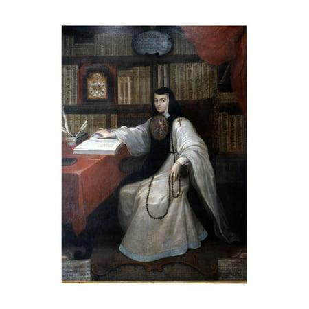 Portrait of Sor Juana Ines De La Cruz, 1750 Print Wall Art By Miguel - Miguel Cabrera Baseball