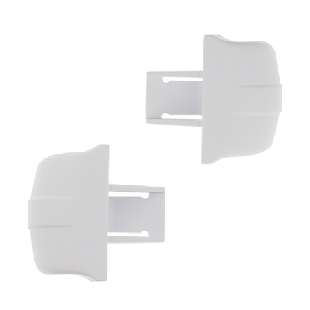 WR2X9144 *2 PACK* NON OEM REPLACEMENT FOR GE REFRIGERATOR - DOOR SHELF - END CAPS (WHITE)