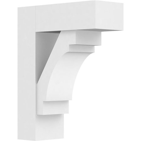 Ekena Millwork BKTP05X14X18MRC05 Standard Merced Architectural Grade PVC Bracket with Block Ends - 5 x 14 x 18 in. - image 1 of 1