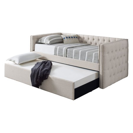 Best Master Furniture Trina Tufted Daybed with (Best Daybed With Trundle)