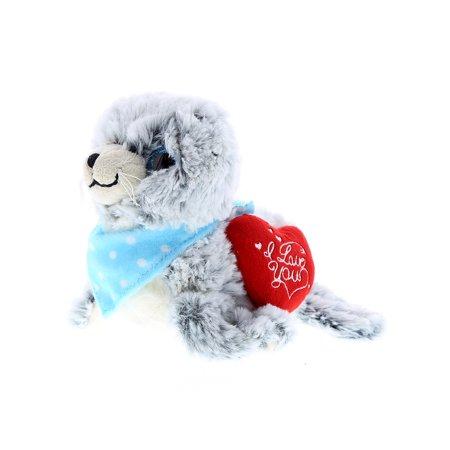 - Super Soft Plush Dollibu Sea Lion Red I Love You Valentines Plush