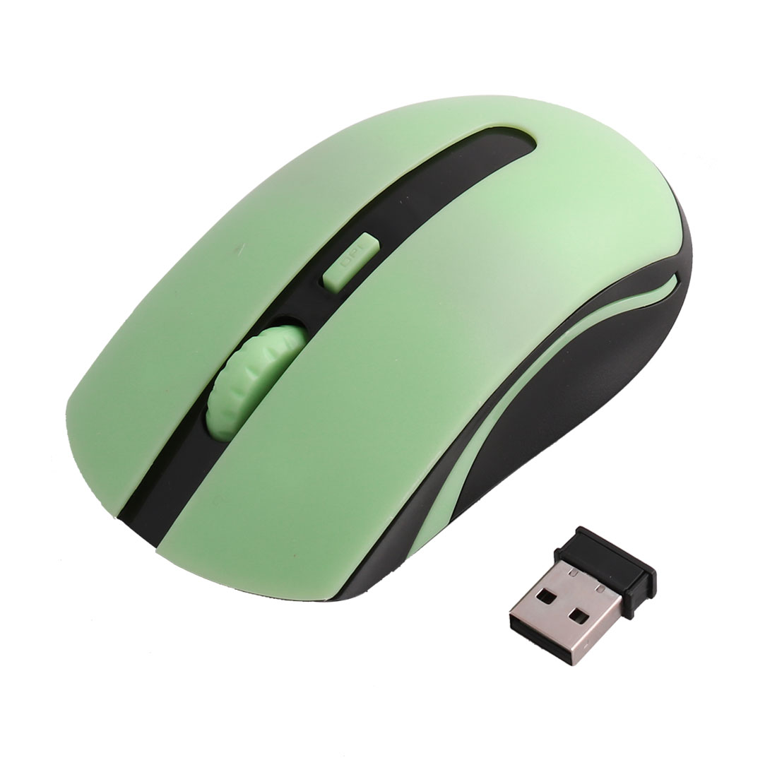 PC Computer 2.4G USB Receiver Wireless Portable Mobile Mouse Optical Mice Green