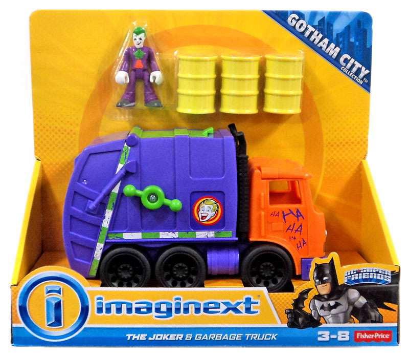 DC Super Friends Imaginext The Joker & Garbage Truck ...