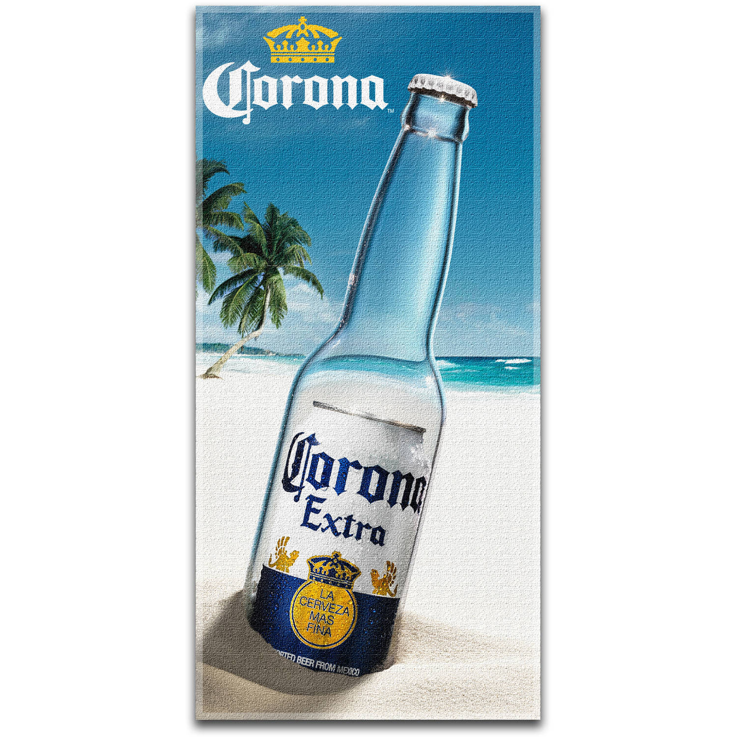 "Corona 30"" x 60"" Beach Towel, ""Message in a Bottle"""