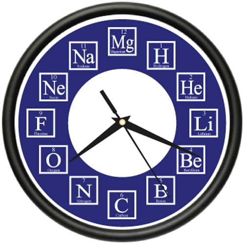 CHEMISTRY Wall Clock science chemicals teacher gift