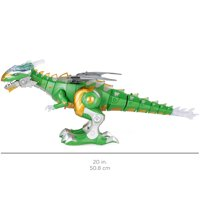 Best Choice Products Set of 2 Walking Dragon and Dinosaur Robot w/ Lights and Sounds, Green