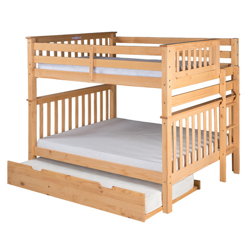 Camaflexi Santa Fe Mission Tall Bunk Bed with Trundle