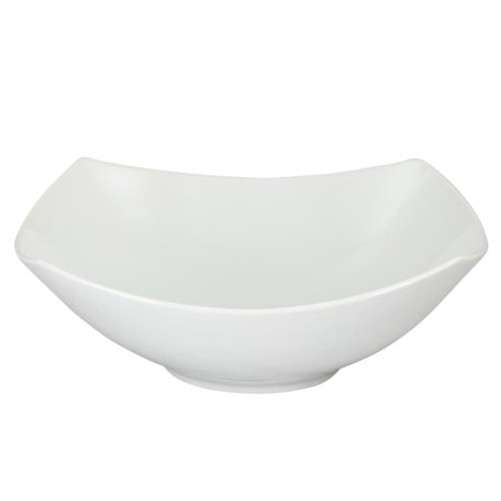 Gibson Elite Ceramic Square Bowl in White