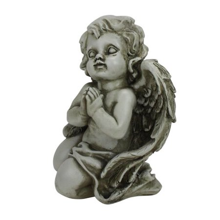 Northlight Seasonal Heavenly Gardens Praying Cherub Angel Outdoor Patio Garden Statue ()