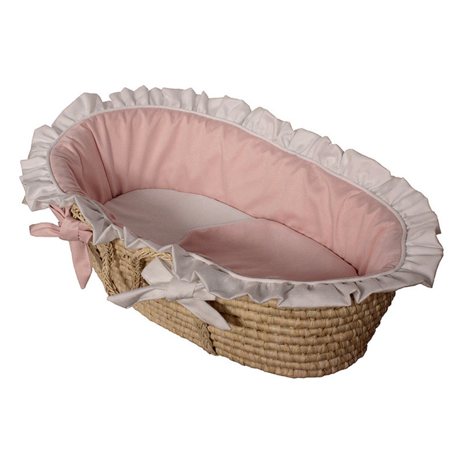 Hoohobbers Moses Basket - Baby Pink