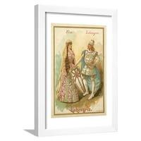 Elsa and Lohengrin, from Richard Wagner's Opera Lohengrin Framed Print Wall Art