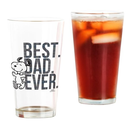 CafePress - Snoopy Best Dad Ever - Pint Glass, Drinking Glass, 16 oz.