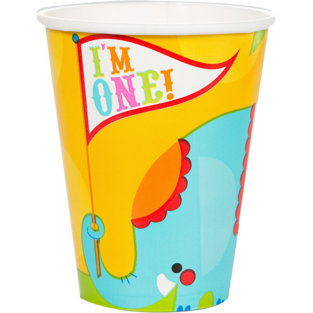 Fisher Price Circus 9 oz Cups (8 Pack) - Party Supplies