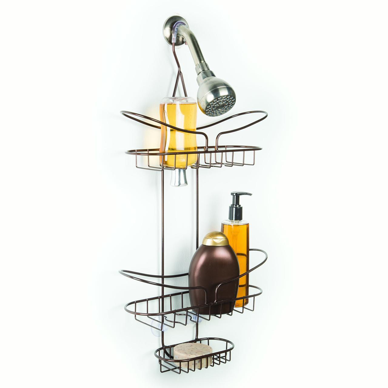Richards Homewares Flip & Store Hamilton Bronze Shower Caddy Wire Construction by Richards Homewares