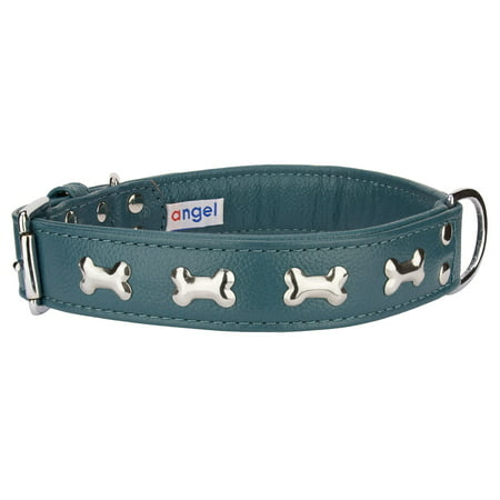 Angel Pet Supplies 41325 Rotterdam Bones Dog Collar in Ocean Blue