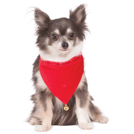 - Santa Claus Pet Dog Cat Christmas Red Bandana Collar With Bell