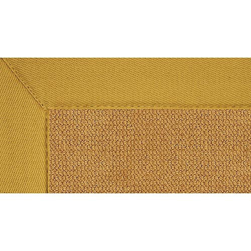 Linon Home - Natural Wool Rug with Jute Backing, Cork/Gold Border