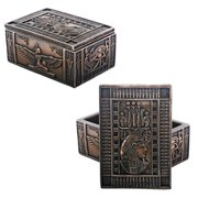 2.5 Inch Bronze Colored Isis Trinket/Jewelry Box, Desk Decoration