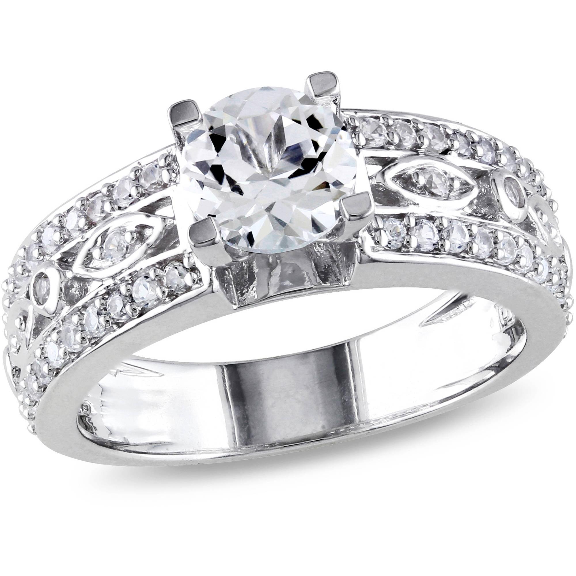 Miabella 12 Carat Tw Diamond 10kt White Gold Five Stone Engagement Ring Walmart: Best Looking 2 Carat Wedding Rings At Websimilar.org