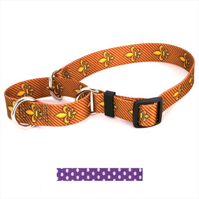 Yellow Dog Design M-NPUD100XS New Purple Polka Dot Martingale Collar - Extra Small