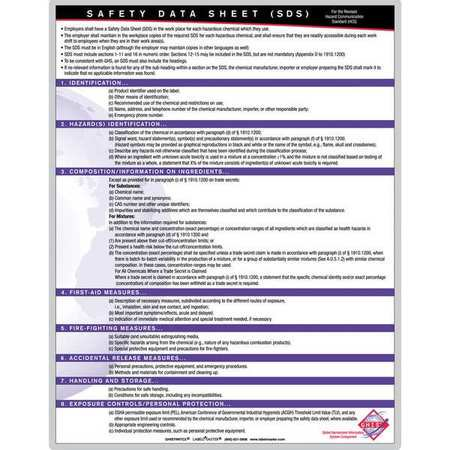 LABELMASTER GHISTRNTC2 Training Chart,Workplace Safety,English (Safety Charts)