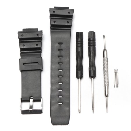25mm Black Silicone Rubber Replacement Watch Band Strap With Tool For Casio G-Shock Series - image 1 of 8