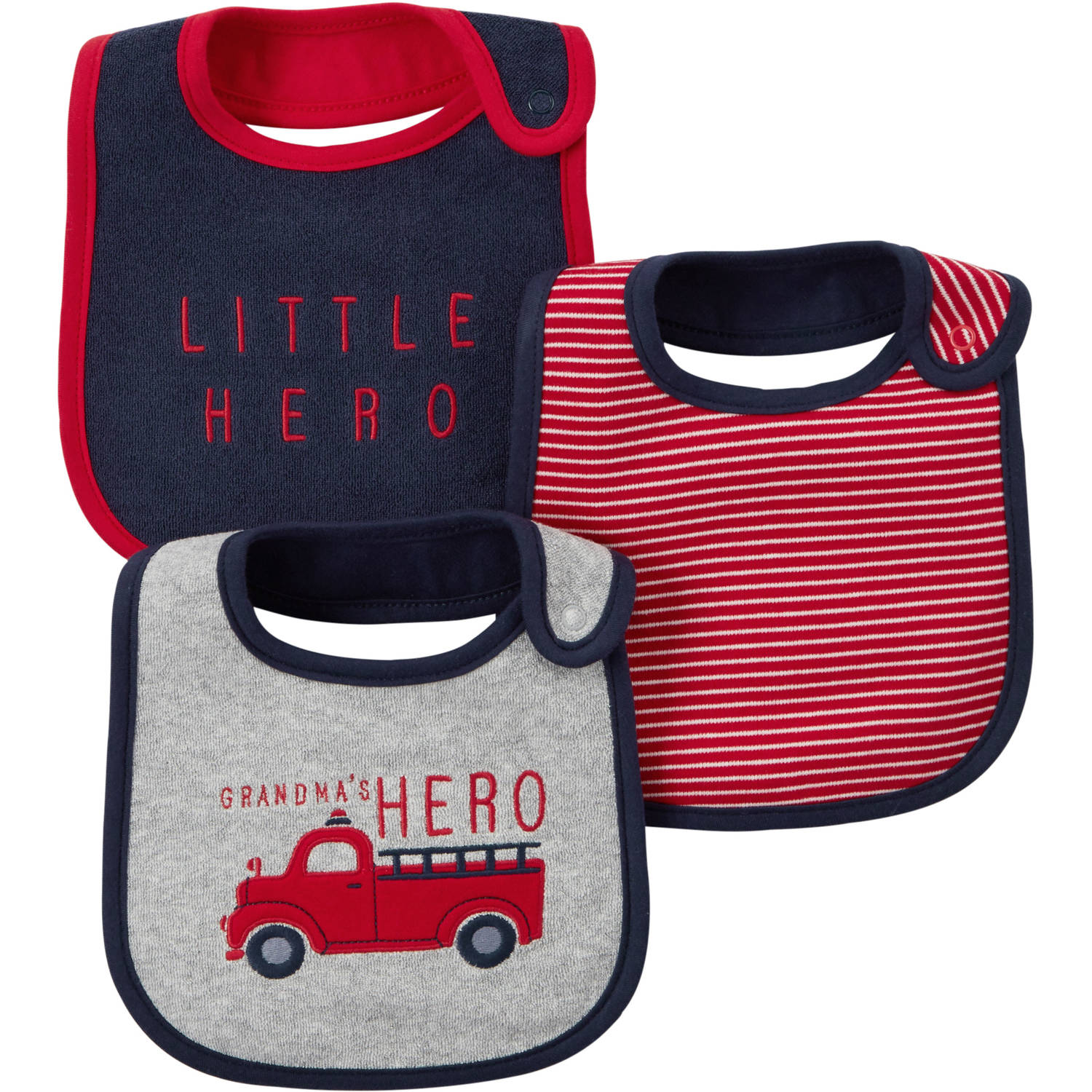 Child Of Mine Made By Carter's Newborn Baby Boy Bib, 3 Pack