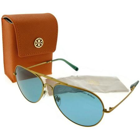 0ff70360dce5 Tory Burch - Tory Burch TY6054-322680-58 Pilot Womens Gold Frame Blue Lens  Genuine Sunglasses - Walmart.com