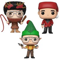 Funko POP! TV The Office Holiday Collectors Set - Dwight as Elf, Michael as Classy Santa, Dwight as Belsnickel