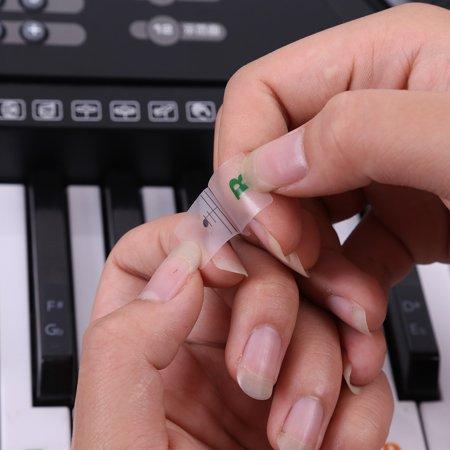 Piano Laminated Sticker Keyboard Set Educational Toys - image 5 de 7