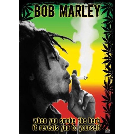 Bob Marley Smoke the Herb Quote Jamaican Reggae Music Legend Poster 24x36
