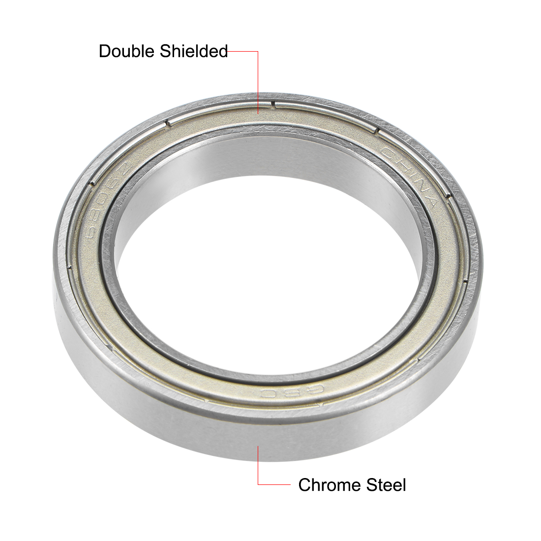 35mm*47mm*7mm 1PCS 6807ZZ Deep Groove Metal Double Shielded Ball Bearing