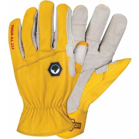 Yellow Worm (StoneBreaker Rancher Work Glove,)